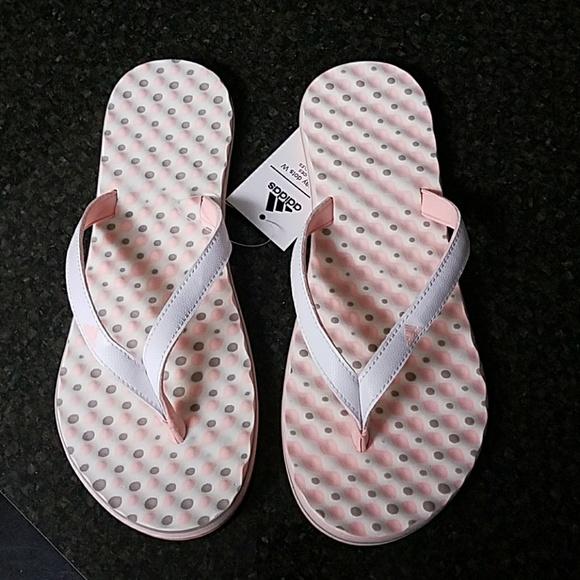 7acd317a3a85 NEW adidas-Eezay Dots Flip-Flops